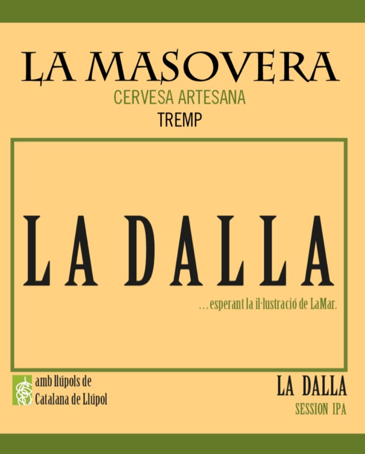 La Dalla cervesa session india pale ale IPA